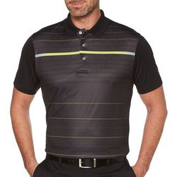 PGA TOUR Mens Illuminated Striped Polo Shirt