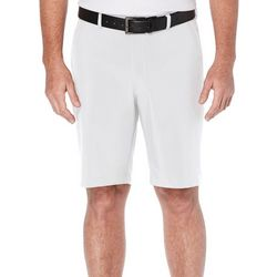 PGA TOUR Mens Solid Elastic Waist Shorts