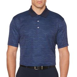PGA TOUR Mens Mini Argyle Print Polo Shirt