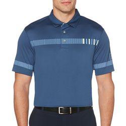 PGA TOUR Mens Broken Chest Stripe Polo Shirt