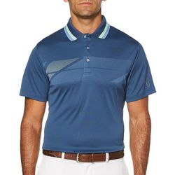 PGA TOUR Mens Diagonal Chest Print Polo Shirt