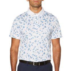 PGA TOUR Mens Tropical Stripe Polo Shirt