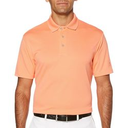 PGA TOUR Mens Airflux Solid Golf Polo Shirt