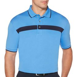 PGA TOUR Mens Golf Chest Stripe Polo Shirt