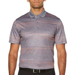 PGA TOUR Mens Stripe With Accent Pop Polo Shirt