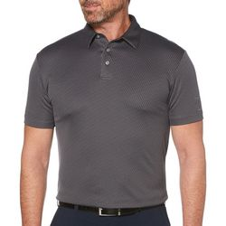 PGA TOUR Mens Mini Jacquard Print Polo Shirt