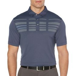 PGA TOUR Mens Broken Stripe Oxford Polo Shirt