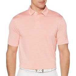 PGA TOUR Mens Big & Tall Airflux Feeder Stripe Polo Shirt
