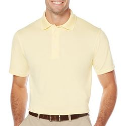 PGA TOUR Mens Big & Tall Airflux Solid Polo Shirt
