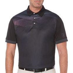PGA TOUR Mens Diamond Ombre Short Sleeve Polo Shirt