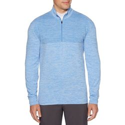 PGA TOUR Mens Herringbone Quarter Zip Pullover Sweater