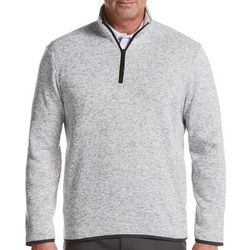 PGA TOUR Mens Big & Tall Fleece Quarter Zip Pullover Sweater