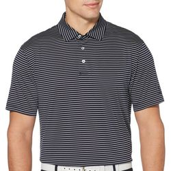 PGA TOUR Mens Sing Feeder Stripe Polo Shirt
