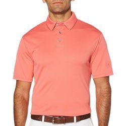 PGA TOUR Mens Airflux Solid Micro Stripe Textured Polo Shirt