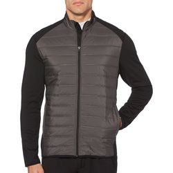 PGA TOUR Mens Quilted Front Zip Jacket