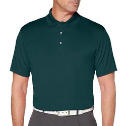 PGA TOUR Mens Airflux Solid Textured Polo Shirt