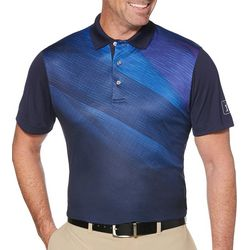 PGA TOUR Mens Pro Series Asymmetrical Gradient Polo Shirt