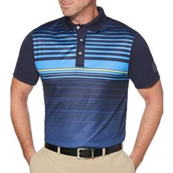PGA TOUR Mens Pro Series Chest Striped Golf Polo Shirt