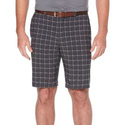 PGA TOUR Mens Textured Mini Plaid Tech Shorts