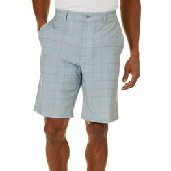 PGA TOUR Mens Tech Glen Plaid Shorts