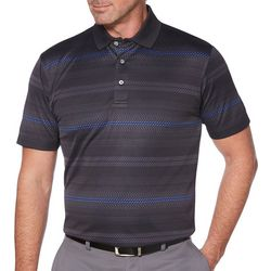 PGA TOUR Mens Pro Series Jacquard Stripe Golf Polo Shirt