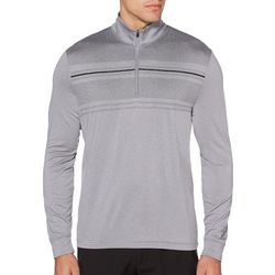 PGA TOUR Mens Ultra Heathered Quarter Zip Pullover Shirt