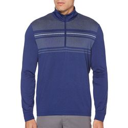 PGA TOUR Mens Ultra Chest Stripe Quarter Zip Pullover Shirt