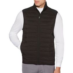 PGA TOUR Mens Quilted Ultrasonic Puffer Vest
