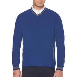 PGA TOUR Mens Solid Side Zip Sweater