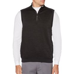 PGA TOUR Mens Heathered Quarter Zip Fleece Vest