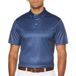 PGA TOUR Mens Allover Leaf Short Sleeve Golf Polo Shirt