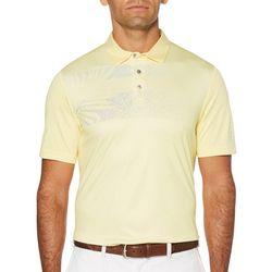 PGA TOUR Mens Graphic Sprayed Palm Print Polo Shirt