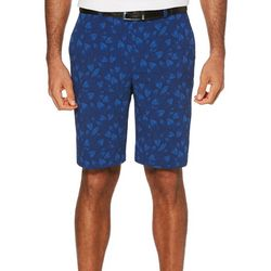 PGA TOUR Mens Seersucker Printed Leaf Flat Front Shorts