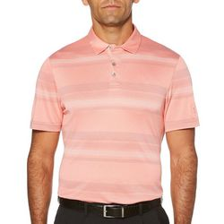 PGA TOUR Mens Air Texturized Geo Stripe Golf Polo Shirt