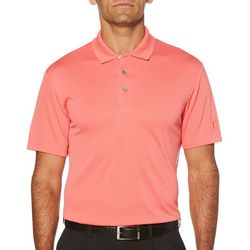 PGA TOUR Mens Airflux Mesh Solid Polo Shirt