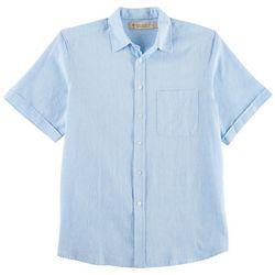 Boca Classics Islandwear Mens Woven Short Sleeve Shirt