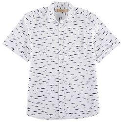 Boca Classics Islandwear Mens Shark Short Sleeve Shirt