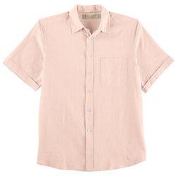 Boca Classics Islandwear Mens Solid Linen Shirt