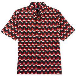 Boca Classics Mens Santa Hats Short Sleeve Shirt