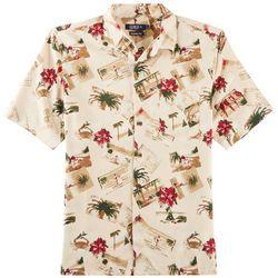 Boca Classics Mens Christmas Cards Short Sleeve Shirt