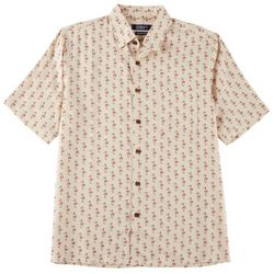 Boca Classics Mens Christmas Flamingo Short Sleeve Shirt