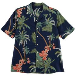 Boca Classics Mens Tropical Print Button Down Shirt