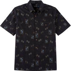 Boca Classics Mens Tropical Print Button Down Shirt