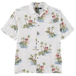 Boca Classics Mens Island Flag Short Sleeve Shirt