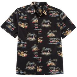 Boca Classics Mens Island Flags Shirt