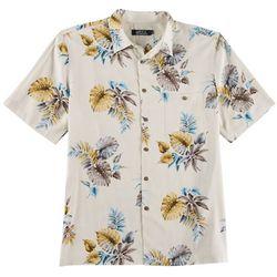 Boca Classics Mens Leaf Etching Short Sleeve Shirt