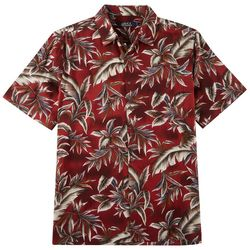 Boca Classics Mens Leaf Print Button Down Shirt
