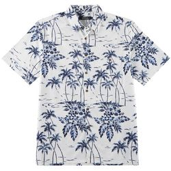 Boca Classics Mens Palm Tree Woven Button Down Shirt