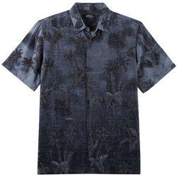 Boca Classics Mens Palm Tree Print Button Down Shirt