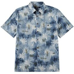 Boca Classics Mens Palm Tree Stripe Button Down Shirt